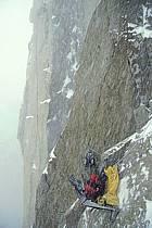Bivouac sur portaledge dans le massif du Mont Blanc, Massif du Mont Blanc, Haute-Savoie, ref bb3211-43GE