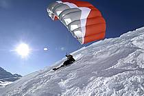 Speed flying (speed riding), Les Arcs, Savoie, Alpes, ref cc060003GE