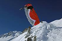 Speed flying (speed riding), Les Arcs, Savoie, Alpes, ref cc060020GE