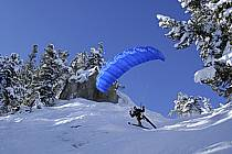 Speed flying (speed riding), Les Arcs, Savoie, Alpes, ref cc060030GE