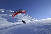 Speed flying (speed riding), Les Arcs, Savoie, Alpes, ref cc060083GE