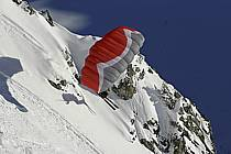 Speed flying (speed riding), Les Arcs, Savoie, Alpes, ref cc060171GE