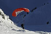 Speed flying (speed riding), Les Arcs, Savoie, Alpes, ref cc060173GE