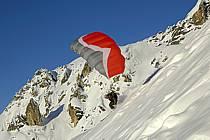 Speed flying (speed riding), Les Arcs, Savoie, Alpes, ref cc060190GE