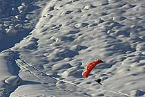 Speed flying (speed riding), Les Arcs, Savoie, Alpes, ref cc060196GE