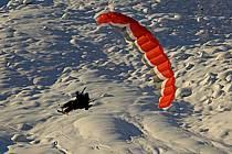 Speed flying (speed riding), Les Arcs, Savoie, Alpes, ref cc060218GE