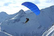 Speed flying (speed riding), Les Arcs, Savoie, Alpes, ref cc060286GE