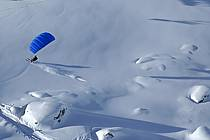 Speed flying (speed riding), Les Arcs, Savoie, Alpes, ref cc060304GE