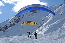 Speed flying (speed riding), Les Arcs, Savoie, Alpes, ref cc060376GE