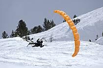 Speed flying (speed riding), Les Arcs, Savoie, Alpes, ref cc060403GE