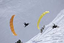 Speed flying (speed riding), Les Arcs, Savoie, Alpes, ref cc060406GE