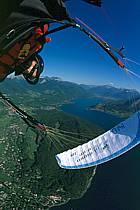Paragliding acrobatic, Annecy, Haute-Savoie, ref cc2498-28GE