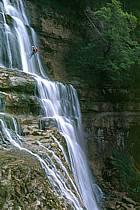 Canyoning, Cascade du Hérisson, Jura, ref cd2047-36GE