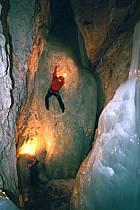 Spéléologie glacière, Grande Glacière, Parmelan, Haute-Savoie, ref ce2208-03GE
