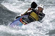 Whitewater kayaking, L'Isère, Aime, Savoie, Alpes, ref cf2982-14GE
