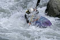 Whitewater kayaking, L'Isère, Aime, Savoie, Alpes, ref cf2982-31GE