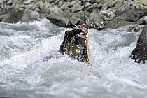 Whitewater kayaking, L'Isère, Aime, Savoie, Alpes, ref cf2983-10GE