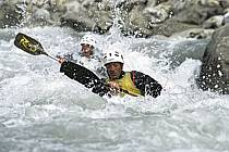 Whitewater kayaking, L'Isère, Aime, Savoie, Alpes, ref cf2983-11GE