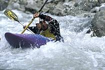Whitewater kayaking, L'Isère, Aime, Savoie, Alpes, ref cf2983-12GE