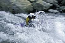 Whitewater kayaking, L'Isère, Aime, Savoie, Alpes, ref cf2984-16GE