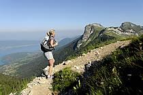 Randonnée à la Tournette, lac d'Annecy, Haute-Savoie, Alpes, ref cg062502LE
