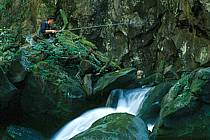 Fly fishing, Arêches, Savoie, Alpes, ref ch1236-08GE