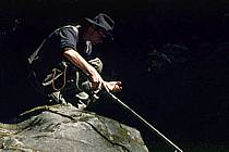 Fly fishing, Arêches, Savoie, Alpes, ref ch1236-37GE