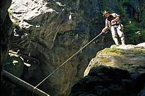 Fly fishing, Arêches, Savoie, Alpes, ref ch1237-08GE