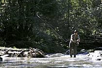 Fly fishing, Arêches, Savoie, Alpes, ref ch1237-13GE