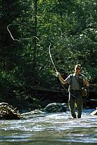 Fly fishing, Arêches, Savoie, Alpes, ref ch1237-17GE
