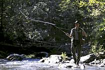 Fly fishing, Arêches, Savoie, Alpes, ref ch1237-24GE