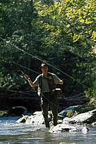 Fly fishing, Arêches, Savoie, Alpes, ref ch1237-29GE