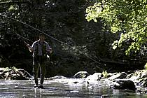 Fly fishing, Arêches, Savoie, Alpes, ref ch1237-34GE