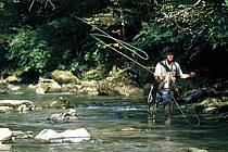 Fly fishing, Arêches, Savoie, Alpes, ref ch1238-06GE