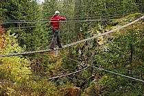 Parcours-aventure des Saisies, Beaufortain, Savoie, Alpes, ref ck042357GE