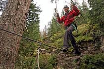 Parcours-aventure des Saisies, Beaufortain, Savoie, Alpes, ref ck042413GE
