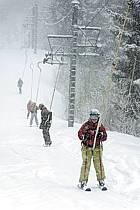 Skiing, Les Arcs, Savoie, Alpes, ref da070100GE