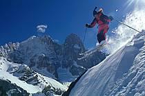 Ski-freeride, Chamonix / Les Grands Montets, Haute-Savoie, Alpes, ref da1143-20GE
