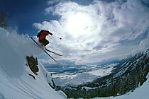 Ski-freeride, Jackson Hole, Wyoming, ref da2000-36GE