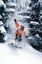 Ski-freeride, Les Contamines-Montjoie, Haute-Savoie, Alpes, ref da2153-33GE