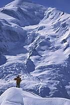 Ski-freeride, Chamonix / Le Brévent, Haute-Savoie, Alpes, ref da2682-08GE