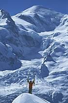 Ski-freeride, Chamonix / Le Brévent, Haute-Savoie, Alpes, ref da2682-11GE