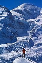 Ski-freeride, Chamonix / Le Brévent, Haute-Savoie, Alpes, ref da2682-12GE