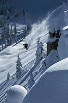 Ski-freeride, Grand Targhee, Wyoming, ref da2935-13GE