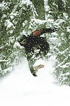 Snowboard dans le mauvais temps, Les Arcs, ref db070117GE