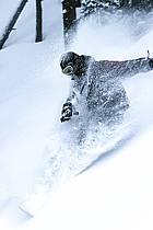 Snowboard dans le mauvais temps, Les Arcs, ref db070118GE
