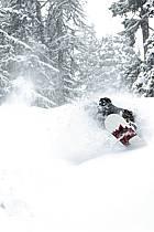 Snowboard dans le mauvais temps, Les Arcs, ref db070119GE