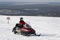 Motoneige, Laponie, ref de061687GE