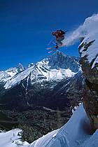 Ski freeride, Chamonix - Le Brévent, Haute-Savoie, Alpes, ref dk2683-19GE