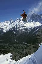 Ski freeride, Chamonix - Le Brévent, Haute-Savoie, Alpes, ref dk2683-20GE